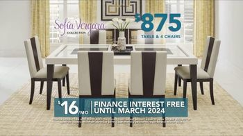 Rooms to Go TV Spot, 'Labor Day: Sofia Vergara Collection Table & Chairs' - 1 commercial airings