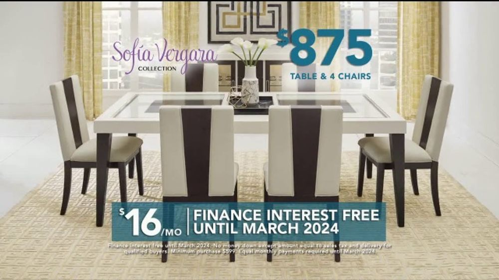 Rooms To Go Tv Commercial 2019 Labor Day Sofia Vergara Collection Table Chairs Video