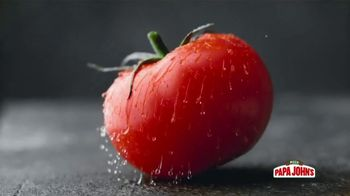Papa John's Fresh Spinach & Tomato Alfredo Pizza TV Spot, 'No HDMI: Can a Tomato Make You Happy?'