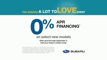 Subaru A Lot to Love Event TV Spot, 'Highest Level of Safety' [T2] - Thumbnail 7