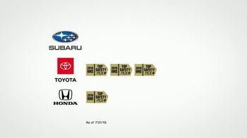 Subaru A Lot to Love Event TV Spot, 'Highest Level of Safety' [T2] - Thumbnail 4
