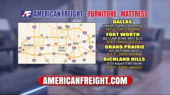 American Freight Grand Opening Anniversary TV Spot, 'Free TVs: Mattresses, Chests, Desks and Futons' - Thumbnail 10