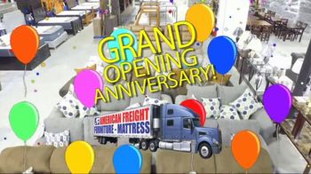 American Freight Grand Opening Anniversary TV Spot, 'Free TVs: Mattresses, Chests, Desks and Futons' - Thumbnail 2
