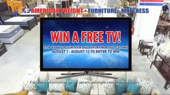 American Freight Grand Opening Anniversary TV Spot, 'Free TVs: Mattresses, Chests, Desks and Futons' - Thumbnail 3