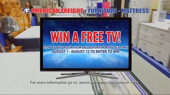 American Freight Grand Opening Anniversary TV Spot, 'Free TVs: Mattresses, Chests, Desks and Futons' - Thumbnail 4