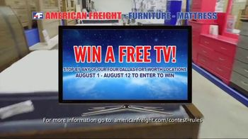 American Freight Grand Opening Anniversary TV Spot, 'Free TVs: Mattresses, Chests, Desks and Futons' - Thumbnail 5