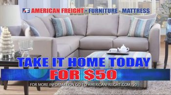 American Freight Grand Opening Anniversary TV Spot, 'Free TVs: Mattresses, Chests, Desks and Futons' - Thumbnail 9