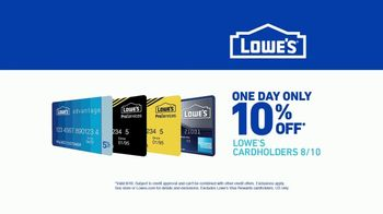 Lowe's TV Spot, 'One Day Only: Ten Percent Off' - Thumbnail 8