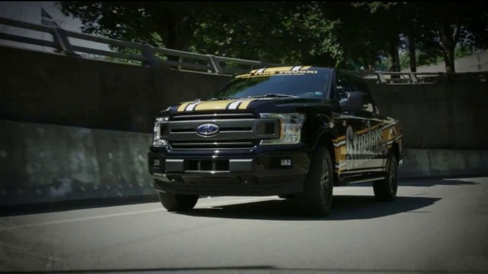 Ford F-150 TV Commercial, 'Pittsburgh Steelers Ticket Giveaway: Going to Work' [T2]