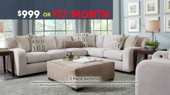 Rooms to Go Memorial Day Sale TV Spot, 'Two-Piece Sectional' - Thumbnail 4