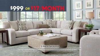 Rooms to Go Memorial Day Sale TV Spot, 'Two-Piece Sectional' - Thumbnail 5