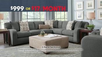 Rooms to Go Memorial Day Sale TV Spot, 'Two-Piece Sectional' - Thumbnail 6