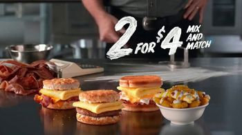 Hardee's 2 for $4 Mix and Match TV Spot, 'Calculator' - Thumbnail 7