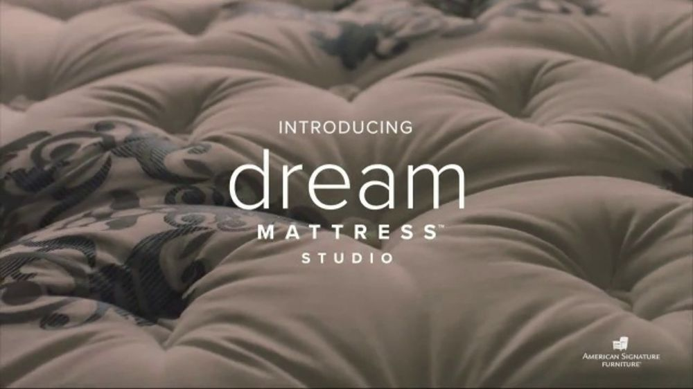 American Signature Furniture Memorial Day Sale TV Commercial, 'Dream Mattress Studio'