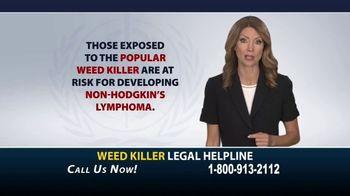 Weed Killer Legal Helpline TV Spot, 'Human Carcinogen'