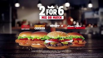 Burger King 2 for $6 Mix or Match TV Spot, 'Grilled Chicken Sandwich' - Thumbnail 7