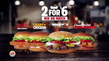 Burger King 2 for $6 Mix or Match TV Spot, 'Grilled Chicken Sandwich' - Thumbnail 1