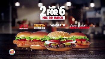Burger King 2 for $6 Mix or Match TV Spot, 'Grilled Chicken Sandwich' - Thumbnail 2