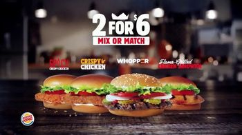 Burger King 2 for $6 Mix or Match TV Spot, 'Grilled Chicken Sandwich' - Thumbnail 3