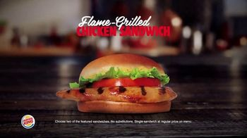 Burger King 2 for $6 Mix or Match TV Spot, 'Grilled Chicken Sandwich'