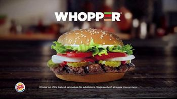 Burger King 2 for $6 Mix or Match TV Spot, 'Grilled Chicken Sandwich' - Thumbnail 5