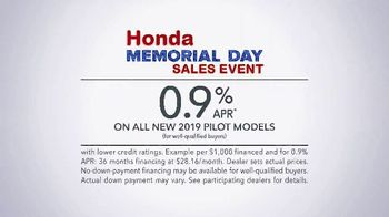 Honda Memorial Day Sales Event TV Spot, 'Kick Off Summer' [T2] - Thumbnail 8