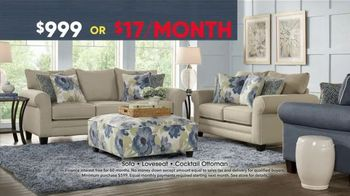 Rooms to Go Memorial Day Sale TV Spot, 'Three-Piece Living Room' - Thumbnail 4
