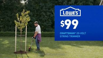 Lowe's TV Spot, 'Do Outdoors Right: Craftsman Trimmer & Bonnie Vegetables' - Thumbnail 5