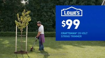 Lowe's TV Spot, 'Do Outdoors Right: Craftsman Trimmer & Bonnie Vegetables' - Thumbnail 6