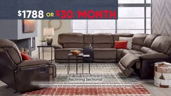 Rooms to Go Memorial Day Sale TV Spot, 'Reclining Sectional: $30' - Thumbnail 5