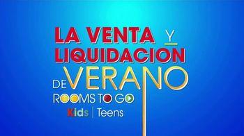 Rooms to Go Venta de Liquidación de Verano TV Spot, 'Kids & Teens: regreso a clases' [Spanish] - Thumbnail 1