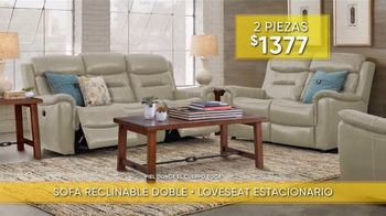 Rooms to Go Venta y Liquidación de Verano TV Spot, 'Sofá reclinable y loveseat estacionario' [Spanish] - Thumbnail 3