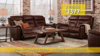Rooms to Go Venta y Liquidación de Verano TV Spot, 'Sofá reclinable y loveseat estacionario' [Spanish] - Thumbnail 4