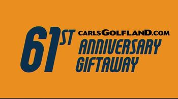 Carl's Golfland 61st Anniversary Giftaway TV Spot, 'Register to Win'