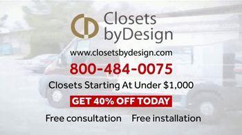 Closets by Design TV Spot, 'Get Organized' - Thumbnail 6