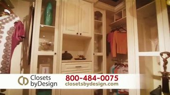 Closets by Design TV Spot, 'Get Organized' - Thumbnail 1
