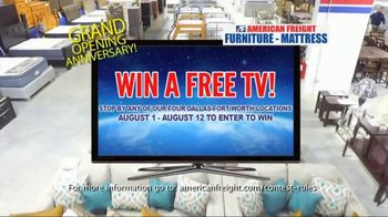 American Freight Grand Opening Anniversary TV Spot, 'Free TVs: Sofas, Sectionals and Living Room' - Thumbnail 3