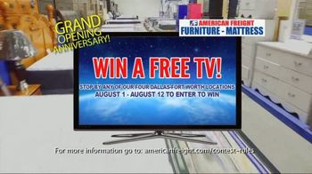 American Freight Grand Opening Anniversary TV Spot, 'Free TVs: Sofas, Sectionals and Living Room' - Thumbnail 4