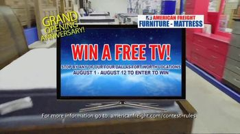 American Freight Grand Opening Anniversary TV Spot, 'Free TVs: Sofas, Sectionals and Living Room' - Thumbnail 5