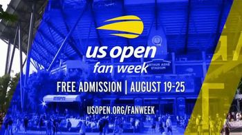 US Open TV Spot, '2019 Fan Week' - Thumbnail 9