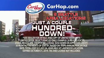 CarHop Auto Sales & Finance TV Spot, 'Couple Hundred Down'
