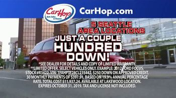 CarHop Auto Sales & Finance TV Spot, 'Couple Hundred Down' - Thumbnail 2