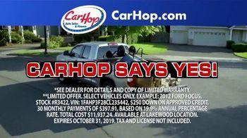 CarHop Auto Sales & Finance TV Spot, 'Couple Hundred Down' - Thumbnail 3