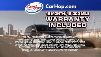 CarHop Auto Sales & Finance TV Spot, 'Couple Hundred Down' - Thumbnail 4