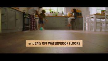 Lumber Liquidators TV Spot, 'Up to 24 Percent Off Waterproof Floors' - Thumbnail 4