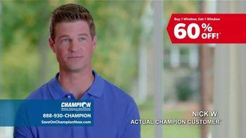 Champion Windows TV Spot, 'To-Do List: BOGO 60 Percent Off' - Thumbnail 5