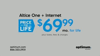 Optimum Altice One + Internet Price for Life TV Spot, 'Changes' - Thumbnail 6