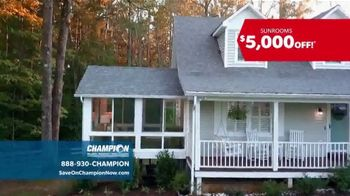 Champion Windows Sunroom TV Spot, 'Season of Change' - Thumbnail 2