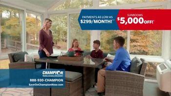 Champion Windows Sunroom TV Spot, 'Season of Change' - Thumbnail 3