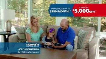 Champion Windows Sunroom TV Spot, 'Season of Change' - Thumbnail 7